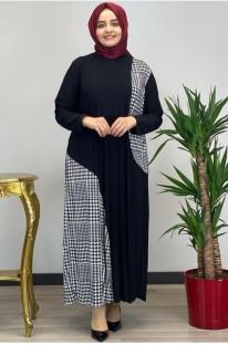 Yaz Yama Uzun Kollu Ferace Müslüman Uzun Elbise