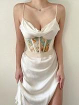 Shapewear corset sous la poitrine à imprimé vintage d'été