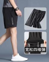 Pantalones cortos con cordones negros con estampado de hombre casual de verano