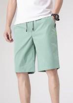 Verano Casual Hombre Cordones Pantalones cortos verdes