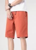 Pantaloncini arancioni con coulisse uomo casual estivo