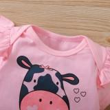 Conjunto de calças 3 peças para animais de verão para bebê menina