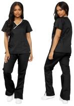 Summer Black Shirt and Pants 2pc Nurse Costume