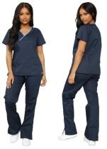 Summer Blue Shirt and Pants Disfraz de enfermera de 2 piezas