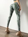 Summer Yoga 2pc Matching Print Bra e leggings a vita alta