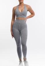 Sutiã estampado para ioga de verão 2 unidades e leggings de cintura alta