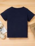 Set 2 pezzi per camicia con stampa estiva e pantaloncini tinta unita per bambina