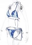 Costumi da bagno a due pezzi con stringhe tie dye