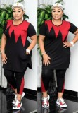 Camicia e pantaloni con stampa a blocchi di colore africano casual estivo