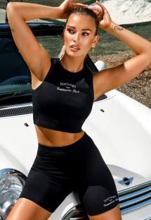 Summer Casual Print Sleeveless Crop Top and Shorts Set