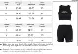 Top corto e pantaloncini senza maniche con stampa casual estiva