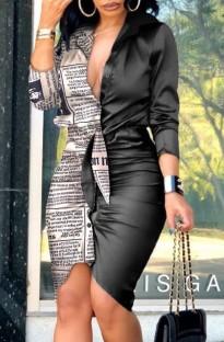 Летнее формальное мини-платье с длинными рукавами и рюшами