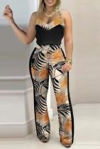 Summer Formal Print Strap Top und passende Hose 2pc Set