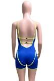 Pagliaccetti aderenti con cinturino senza schienale sexy blu estivo
