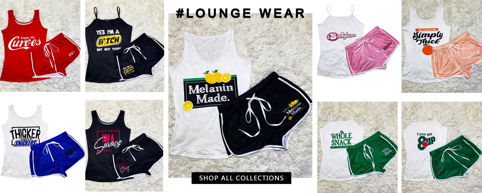 Colete e shorts com estampa de verão combinando com conjunto de lazer