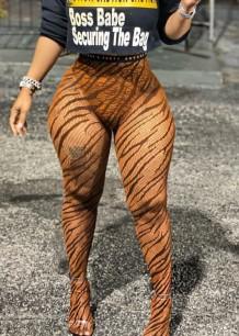 Leggings de cintura alta com estampa de verão África sexy