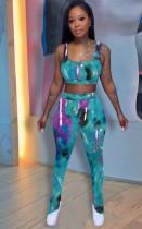 Summer Tie Dye Conjunto de sujetador y pantalón sexy