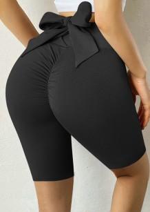 Pantaloncini da yoga legati da scrunch sexy neri estivi