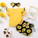 Pantaloncini 3 pezzi floreali estivi per neonata