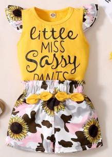 Baby Girl Summer Floral 2 Stück Shorts Set