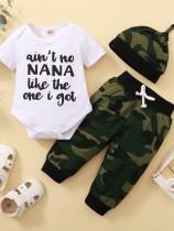 3-delige broek set met zomercamou voor babyjongens