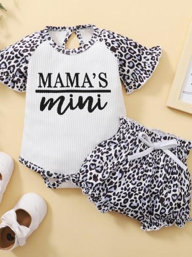 Baby Girl Summer Leopard 2-teiliges Shorts-Set