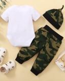 Set di pantaloni 3 pezzi Baby Boy Summer Camou