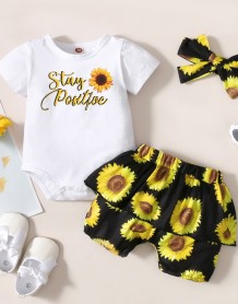 Baby Girl Summer Floral 3 Stück Shorts Set