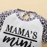 Conjunto de Shorts de 2 peças para bebê menina Summer Leopard