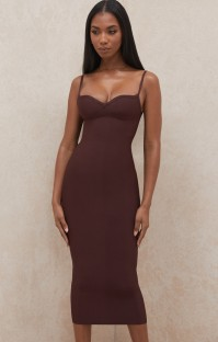 Summer Classy Burgunry Strap Pencil Dress
