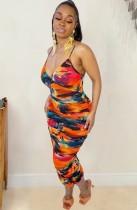 Zomerjurk met print van sexy riempjes