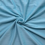 Summer Plus Size Casual Sky Blue O-Neck Skater Dress