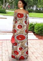 Vestido largo con hombros descubiertos y estampado formal de Summer Africa