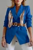 Blazer de manga comprida azul formal primavera