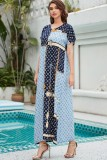 Verano Dubai árabe Oriente Medio musulmán Kaftan islámico Abaya vestido largo