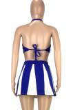 Summer Sports Blue Halter sujetador y falda tutú