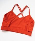Summer Sports Orange Yoga Bra and Shorts 2PC Set