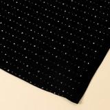 Conjunto de vestido de 3 piezas con cuentas de malla sexy negro de verano