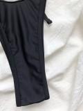 Zweiteilige schwarze Sexy Hearts Micro-Badebekleidung
