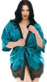 Conjunto de lencería sexy camisón y panty de verano verde
