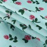 Sommergrünes, florales String-Buster-Crop-Top mit Riemen