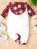 Baby Boy Weihnachtsdruck Strampler mit Kapuze
