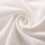 Ärmelloses Crop Top mit Sommer-Print in Weiß