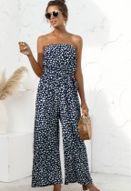 Summer Casual Print Blauer trägerloser Overall