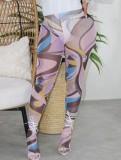 Legging taille haute sexy multicolore d'été