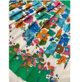 Sommer formale grüne Blumenbluse und Faltenrock 2-teiliges Set