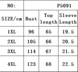 Sommer Plus Size Grau Casual Print O-Neck Hemd