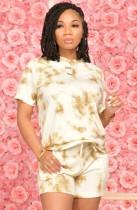 Yaz Günlük Batik Gömlek ve Şort Eşleştirme Seti