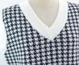 Suéter de cuello en V de punto con estampado casual de primavera