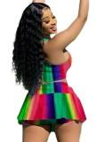 Summer Sports Rainbow sujetador y falda a juego